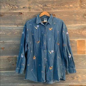[disney] denim shirt